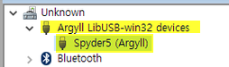 Argyll LibUSB-win32 devices