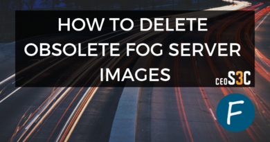 Delete FOG Image – How to properly delete them