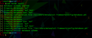 metasploit failed to connect to the database