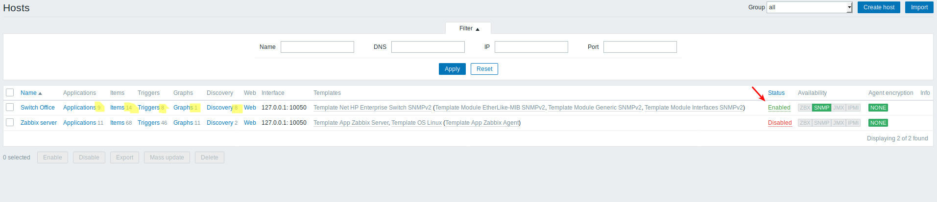 Monitor an HP Switch with Zabbix via SNMP - Ceos3c