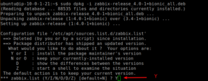 upgrade Zabbix from 3.4 to 4.0