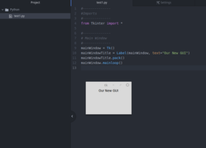 How to create a GUI in Python