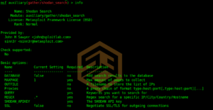Information Gathering with Metasploit