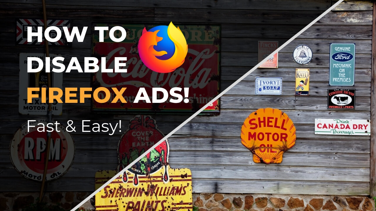 Disable Firefox Ads