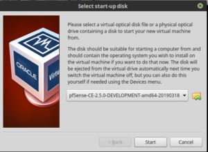 Install pfSense 2.5 on VirtualBox