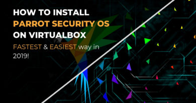 Install Parrot Security OS on VirtualBox