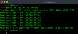 Nmap Host Discovery
