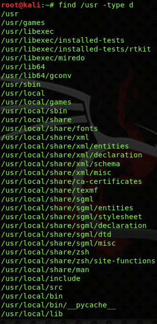 linux find command by directory