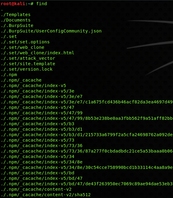 linux find command all directory