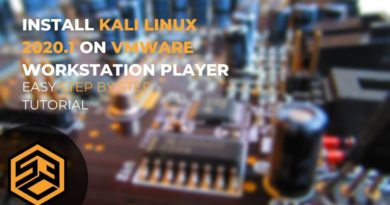 How to install Kali Linux 2020.1 on VMWare Workstation Player