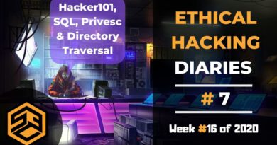 Ethical Hacking Diaries 7