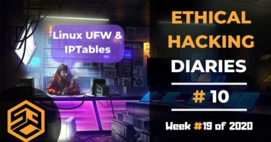 Ethical Hacking Diaries #10 – Linux UFW & IPTables